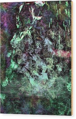 Water Visions Wood Print by Aliceann Carlton