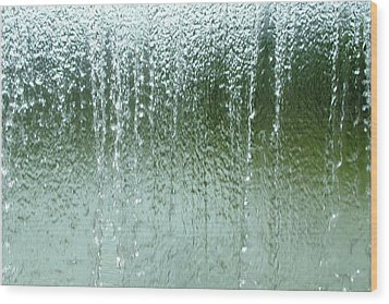 Water Wall  Wood Print by Martina Fagan