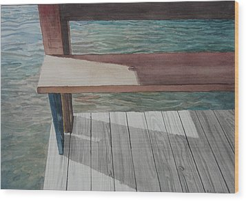 Water3 Wood Print by Jeffrey Babine