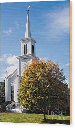 Waterbury Congregational Church, Ucc Wood Print