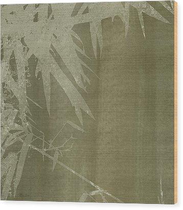 Watercolor Bamboo 02 Wood Print