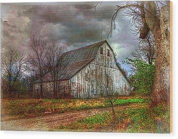 Watercolor Barn 2 Wood Print