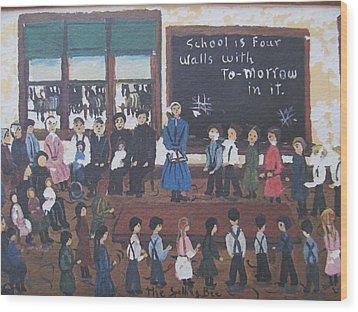 Watercolor Original Wood Print