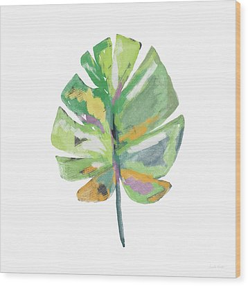Wood Print featuring the mixed media Watercolor Palm Leaf- Art By Linda Woods by Linda Woods