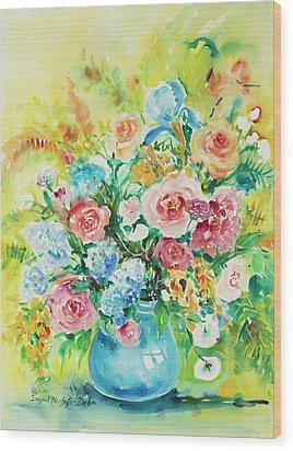 Watercolor Series 120 Wood Print