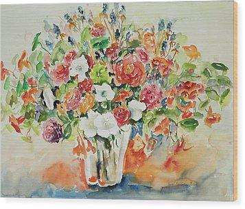 Watercolor Series 23 Wood Print