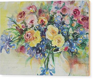 Watercolor Series 62 Wood Print
