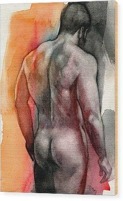 Watercolor Study 5 Wood Print by Chris Lopez
