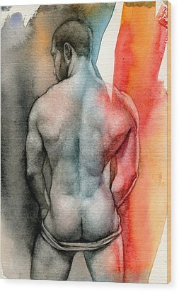 Watercolor Study 6 Wood Print by Chris Lopez