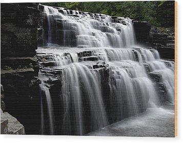 Waterfall 2 Wood Print