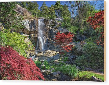 Wood Print featuring the photograph Waterfall At Maymont by Rick Berk