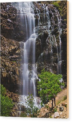 Waterfall Canyon Wood Print