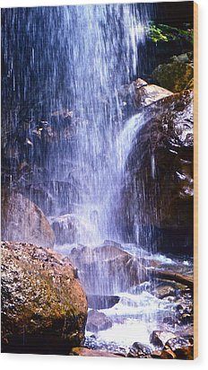 Wood Print featuring the photograph Waterfall In Tennessee by Lori Miller