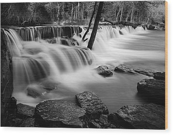 Waterfall Wood Print by James Barber