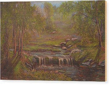 Waterfall Paridise Wood Print