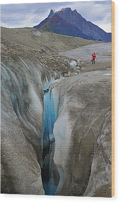 Waterfall Root Glacier Wood Print