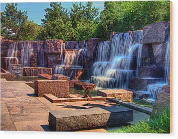 Waterfalls Fdr Memorial Wood Print