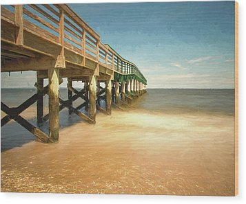 Wood Print featuring the photograph Waterfront Park Pier 1 by Gary Slawsky