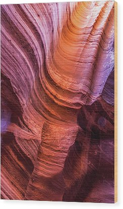 Waterholes Canyon Ribbon Candy Wood Print