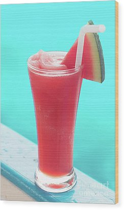 Wood Print featuring the photograph Waterlemon Smoothie by Atiketta Sangasaeng