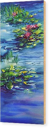 Waterlilies Wood Print by Joanne Smoley