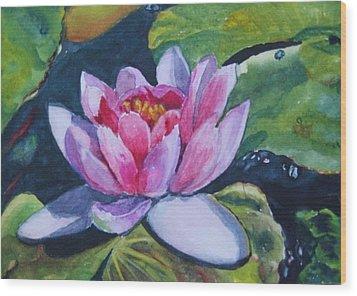 Waterlily II Wood Print