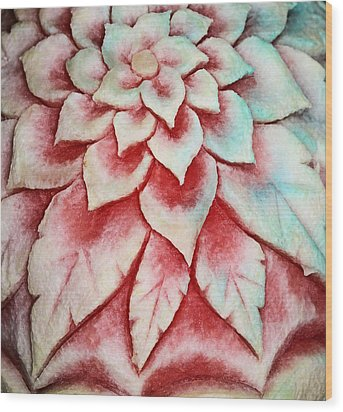 Wood Print featuring the photograph Watermelon Carving by Kristin Elmquist