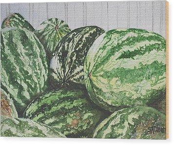 Watermelon Wood Print by Sue Ann Glenn