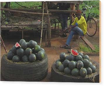 Watermelons Wood Print