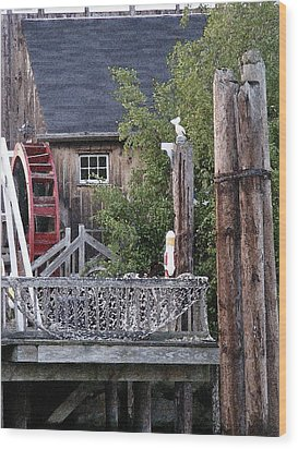 Wood Print featuring the photograph Waterwheel Office Building by Margie Avellino