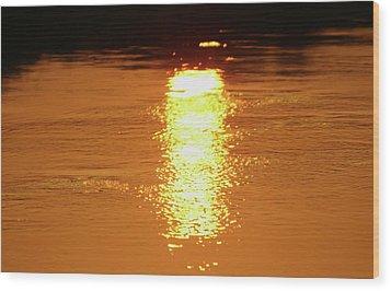 Watery Sunset Wood Print by Martina Fagan