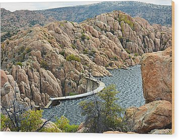 Watson Lake Dam Wood Print