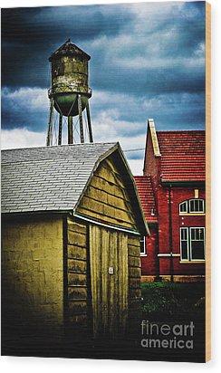 Waurika Old Buildings Wood Print by Toni Hopper