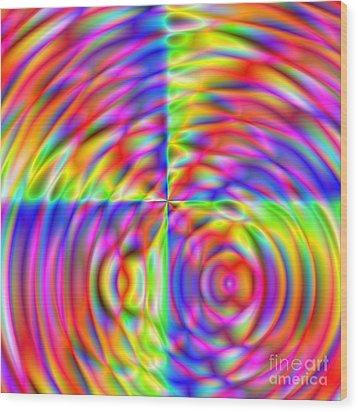 Wave 006 Wood Print by Rolf Bertram