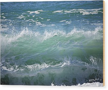 Wood Print featuring the photograph Wave by Barbara MacPhail