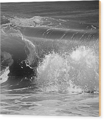 Wave Wood Print by Charles Harden