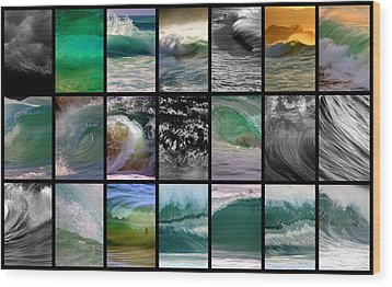 Wave Chart Wood Print by Brad Scott