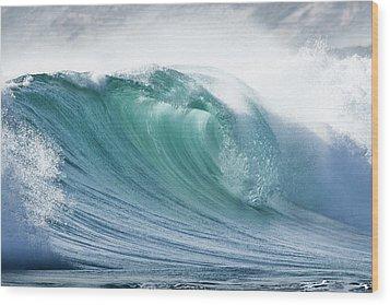 Wave In Pristine Ocean Wood Print by John White Photos
