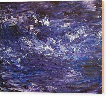 Wave Of Life Wood Print by Robin Monroe