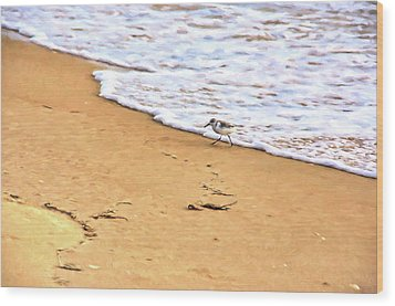 Wood Print featuring the photograph Wave Runner by Jan Amiss Photography