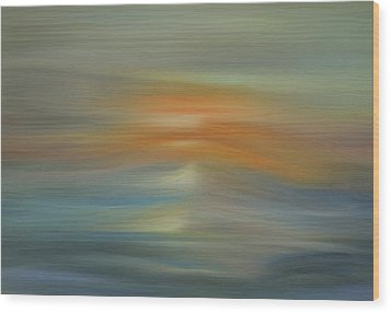 Wave Swept Sunset Wood Print by Dan Sproul