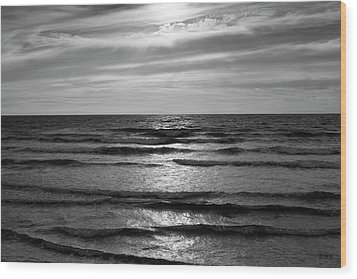 Wave Upon Wave I Bw Wood Print by David Gordon