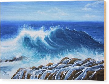 Wave Wood Print by Vesna Martinjak
