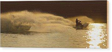 Waverunner Weekend Wood Print by Steve Gadomski