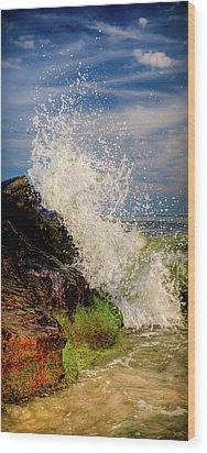 Waves Wood Print by David Hahn