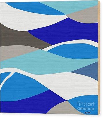 Waves Wood Print by Eloise Schneider