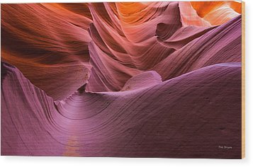Waves-lower Antelope Canyon Wood Print by Tim Bryan