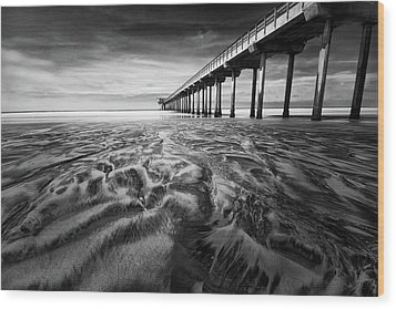 Waves Of Sand Wood Print by Ryan Weddle