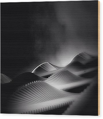 Waves Of Steel - Concrete Jungle Wood Print by Robbert Ter Weijden