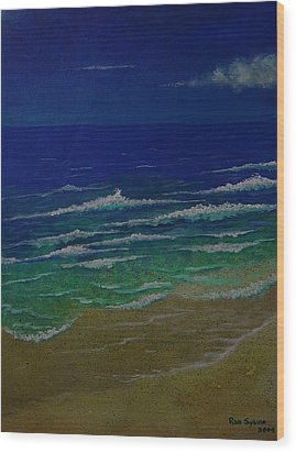 Waves Wood Print by Ron Sylvia